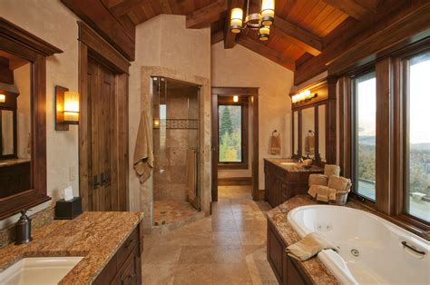 Lodge Style Curtains Plan On How To Create Elegant Rustic Bathroom Ideas