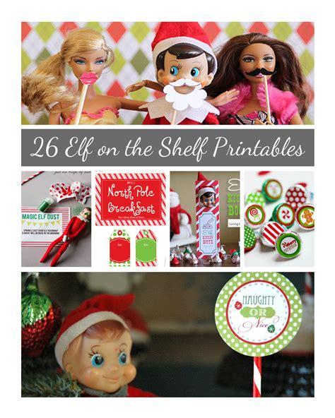 printable elf on the shelf stuff elf on the shelf printables