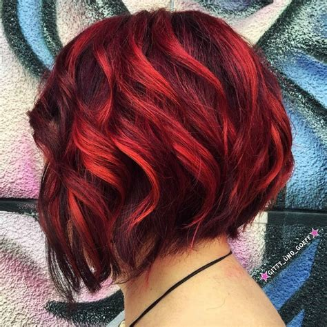 red to blonde ombre bob image result for brown to burgundy ombre short hair hair
