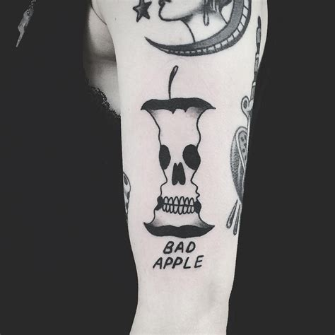 bad apple tattoo between the lines 10 artists working in negative