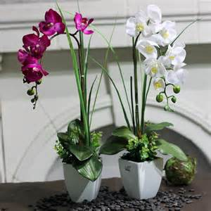 Flower Pot On Dining Table High Wo Artificial Flower Phalaenopsis Bowyer Artificial