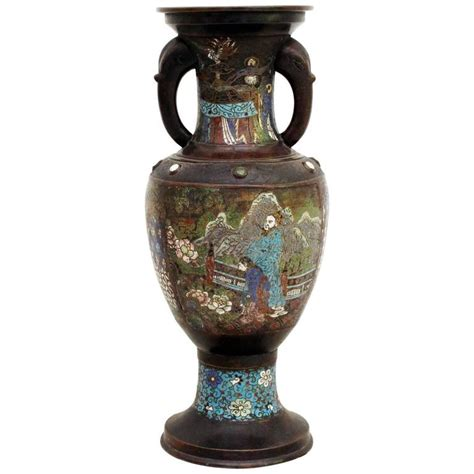 Large Cloisonne Vase by Large 19th Century Bronze Cloisonn 233 Enamelled Vase