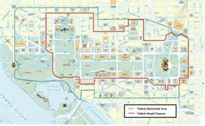 us map dc area road closures for 2017 presidential inauguration in