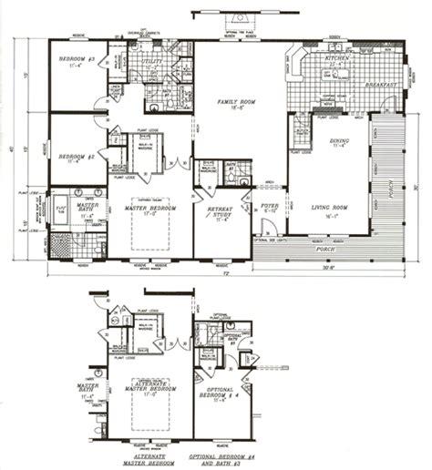 4 bedroom mobile home floor plans image 4 bedroom mobile home floor plans download