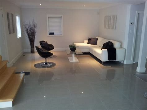 tiled living room large format tiles