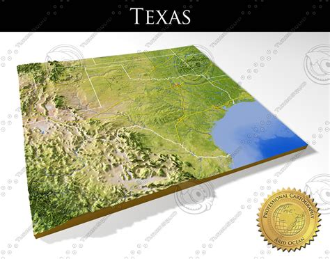 relief map of texas max relief texas