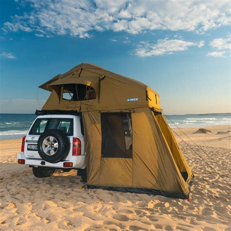 roof top tent awning adventure kings roof top tent with annexe 4wd outdoor products australia