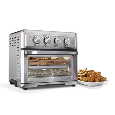 Amazon Com Toasters Cuisinart Toa 60 Air Fryer Toaster Oven With Light Silver