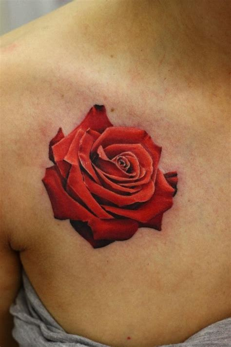 rose tattoo red realistic anderton the best