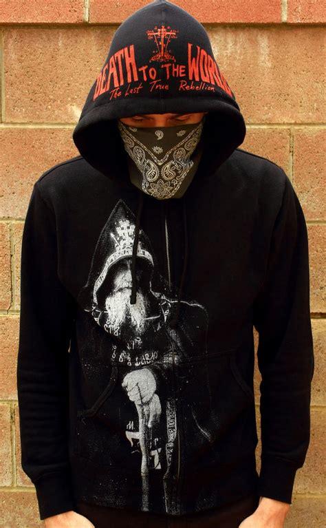 Hoodie Deathnote B W schema monk hoodie from to the world