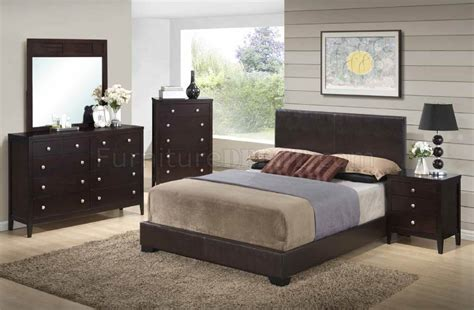 5pc bedroom set 8103 lily 5pc bedroom set by global w brown upholstered bed