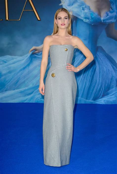cinderella film premiere london lily james attends cinderella premiere after party in grey