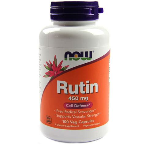 Detox 450 Mg by Now Foods Rutin 450 Mg 100 Vcapsules Evitamins