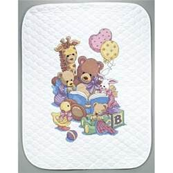 dimensions baby hugs teddy friends quilt sted cross