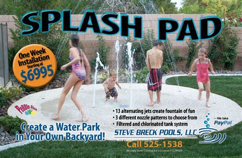 build your own backyard splash pad las vegas custom pool builder and pool inspections
