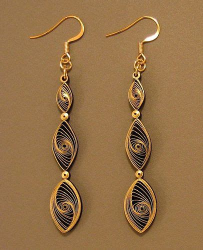Paper Jewellery Tutorials - all things paper quilling 101 gilded earrings tutorial