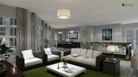 Home Living Room Interior Design Interiordesign Rendering For Club House Living Room And Kitchen Architectural Interior