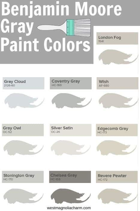 benjamin moore gray paint colors west magnolia