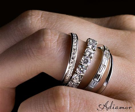stacked eternity wedding bands stacked eternity rings from adiamor the day i say i do
