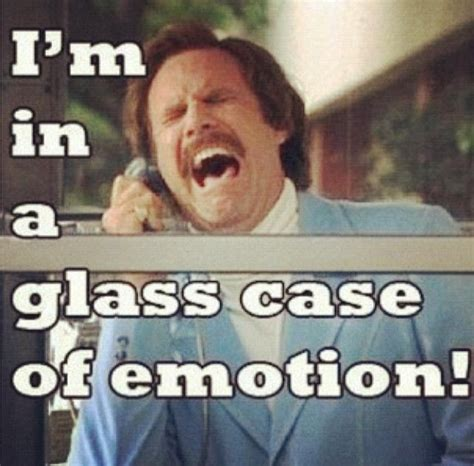 Glass Case Of Emotion Meme - ron burgundy baxter quotes quotesgram