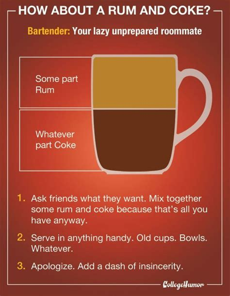 rum and coke cocktail infographic things i like pinterest cocktails search and rum