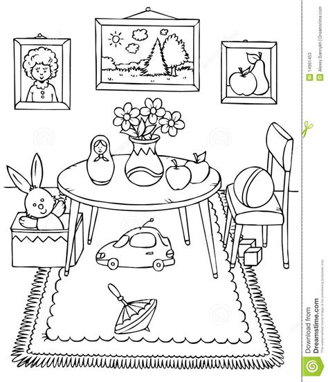 art room coloring page messy bedroom clipart