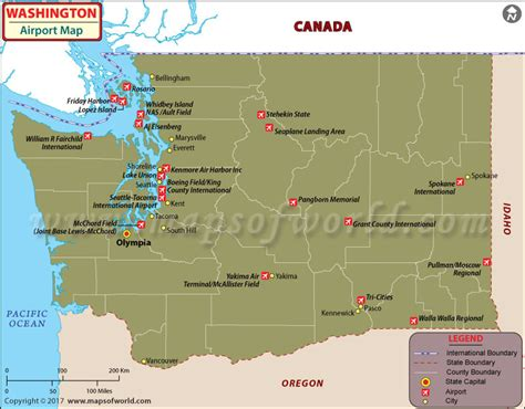 washington dc map showing airports airports in washington state washington airports map