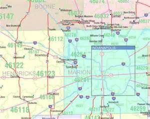 Indiana Zip Code Map by Indiana Zip Code Map