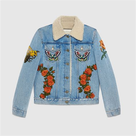 Embroidered Jacket gucci inspired denim to invest in now