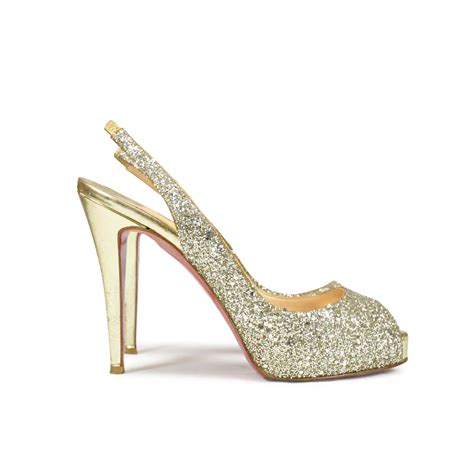 Sepatu Original Louboutin Shoes Prive Second second christian louboutin no prive glitter