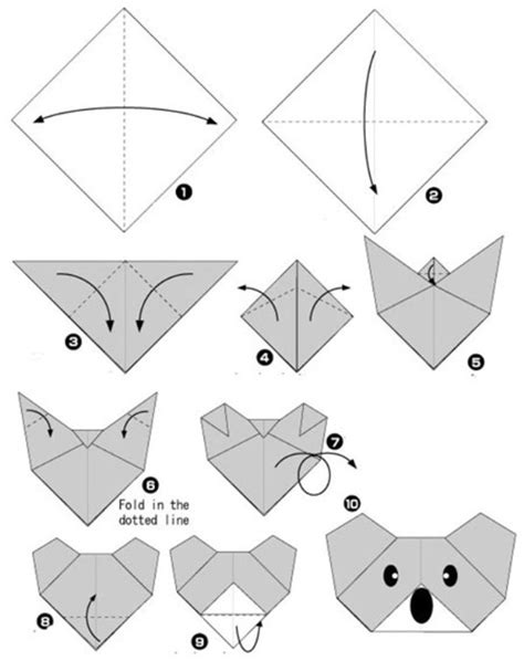 How To Make A Origami Koala - simple origami for and their parents selection of