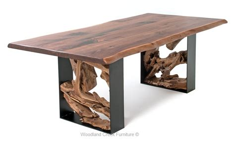 Modern Rustic Live Edge Table Modern Slab Table Furniture Rustic Modern