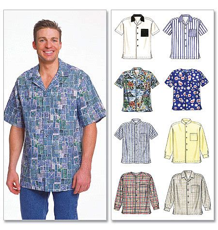 mens shirt pattern easy mccalls 2149 mens easy 8 look shirt sewing pattern 6 sizes