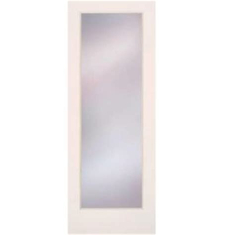 Home Depot Interior Glass Doors Feather River Doors 30 In X 80 In Privacy Smooth 1 Lite Primed Mdf Interior Door Slab