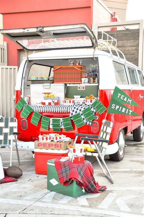 Tailgate Giveaway Ideas - kara s party ideas ultimate vw bus football tailgate party