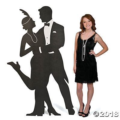Roaring 20s Silhouette Swing Dancers Cardboard Cutouts