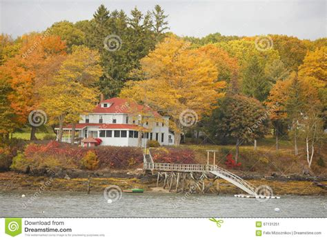 house in the woods maine home in the woods stock photo image 67131251
