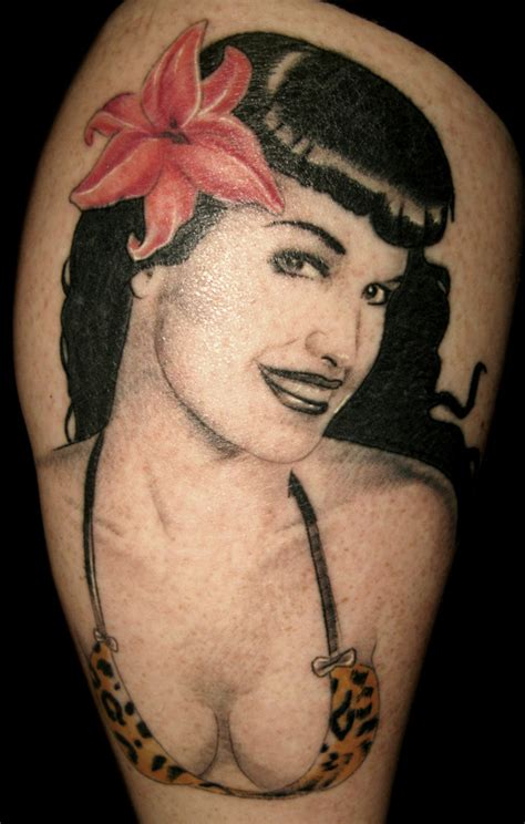bettie page tattoo pin bettie page see more at kevinrileytattooscom