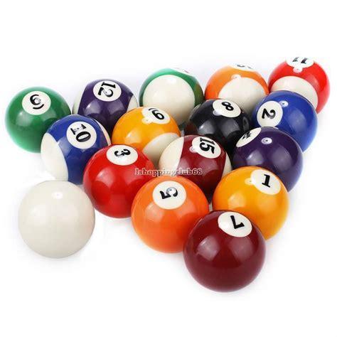 Meja Billiard Fullset new durable pool billiard balls regulation standard 2 25 quot size set ebay