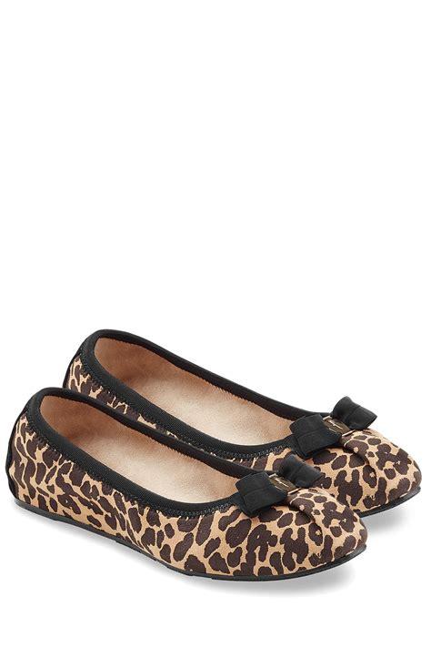 animal print shoes flats lyst ferragamo suede leopard print ballet flats animal