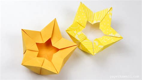 Origami Paper Bowl - origami flower crown bowl tutorial paper kawaii