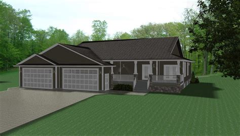 ranch house plans 3 car garage house design plans