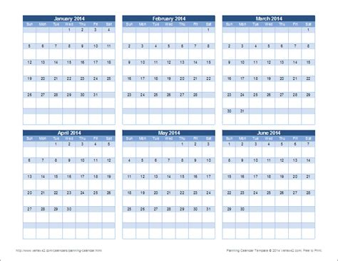 planning calendar template yearly