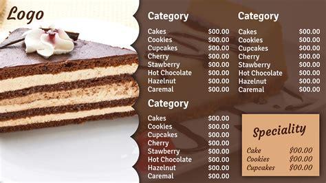 dessert menu templates dessert menu template dessert menu template dessert menu