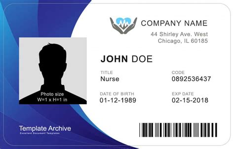 identification badges template 16 id badge id card templates free template archive