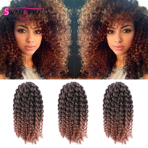 ombre crochet braid hair 3pcs lot 10 quot afro kinky twist hair crochet braids ombre