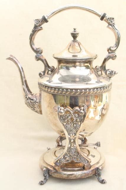 Mass Der Set Heavy Silver antique 1920s vintage tilt kettle teapot silver plate