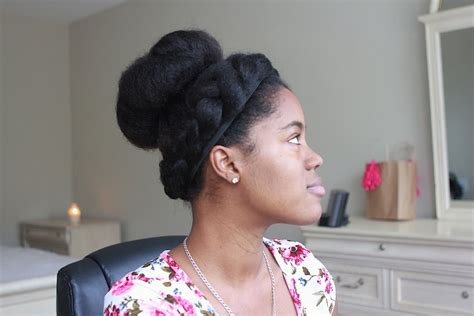 braidout using royal crown dutch braid crown and bun protective style for natural