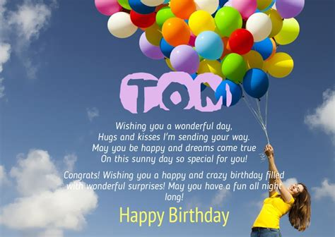 happy birthday tom images birthday congratulations for tom