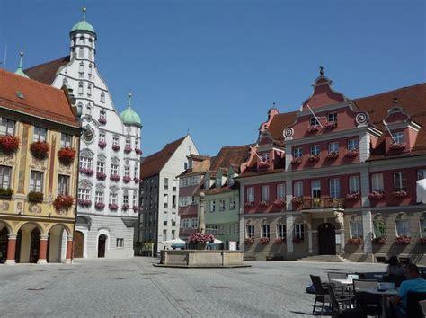 place deutschland memmingen market place germany platz piazza plaza